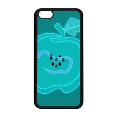 Xray Worms Fruit Apples Blue Apple Iphone 5c Seamless Case (black) by Mariart