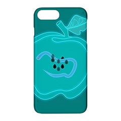 Xray Worms Fruit Apples Blue Apple Iphone 7 Plus Hardshell Case by Mariart