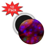 Vaccine Blur Red 1 75  Magnets (10 Pack)