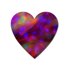 Vaccine Blur Red Heart Magnet by Mariart