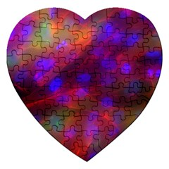 Vaccine Blur Red Jigsaw Puzzle (heart) by Mariart