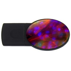 Vaccine Blur Red Usb Flash Drive Oval (4 Gb) by Mariart