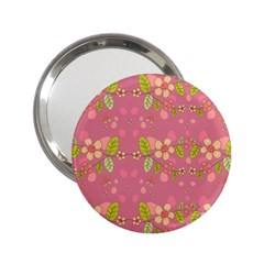 Floral Pattern 2 25  Handbag Mirrors by Valentinaart
