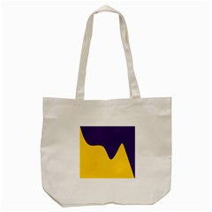 Purple Yellow Wave Tote Bag (cream)