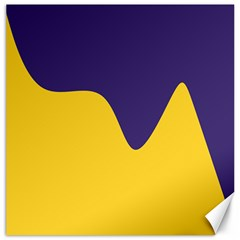 Purple Yellow Wave Canvas 12  X 12   by Mariart