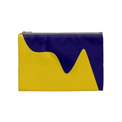 Purple Yellow Wave Cosmetic Bag (medium)  by Mariart
