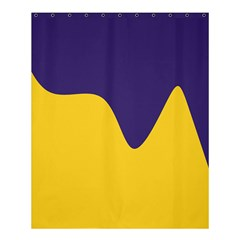 Purple Yellow Wave Shower Curtain 60  X 72  (medium)  by Mariart