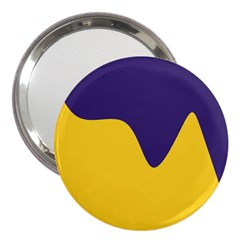 Purple Yellow Wave 3  Handbag Mirrors