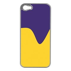 Purple Yellow Wave Apple Iphone 5 Case (silver) by Mariart