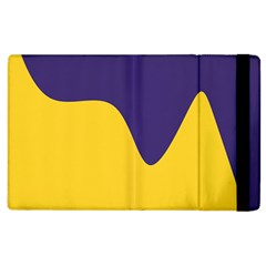 Purple Yellow Wave Apple Ipad 2 Flip Case by Mariart