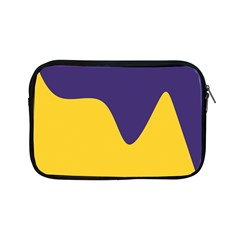 Purple Yellow Wave Apple Ipad Mini Zipper Cases by Mariart