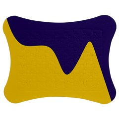Purple Yellow Wave Jigsaw Puzzle Photo Stand (bow) by Mariart