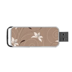 Star Flower Floral Grey Leaf Portable Usb Flash (two Sides) by Mariart