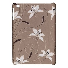 Star Flower Floral Grey Leaf Apple Ipad Mini Hardshell Case by Mariart