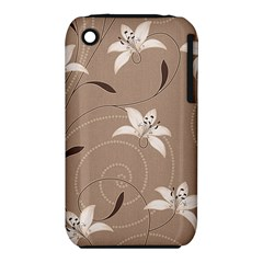 Star Flower Floral Grey Leaf Iphone 3s/3gs by Mariart