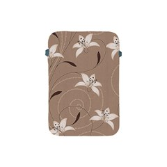 Star Flower Floral Grey Leaf Apple Ipad Mini Protective Soft Cases by Mariart