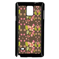 Floral Pattern Samsung Galaxy Note 4 Case (black)
