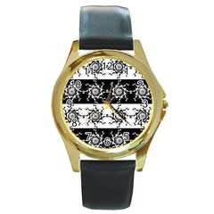 Three Wise Men Gotham Strong Hand Round Gold Metal Watch by Mariart