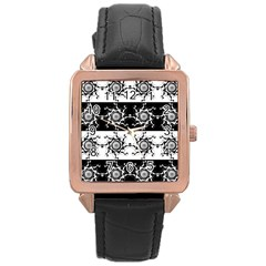 Three Wise Men Gotham Strong Hand Rose Gold Leather Watch  by Mariart