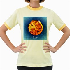 Zodiac Leo Women s Fitted Ringer T Shirts