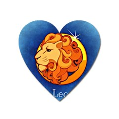 Zodiac Leo Heart Magnet by Mariart