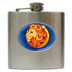 Zodiac Leo Hip Flask (6 Oz) by Mariart