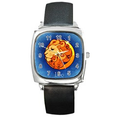 Zodiac Leo Square Metal Watch by Mariart