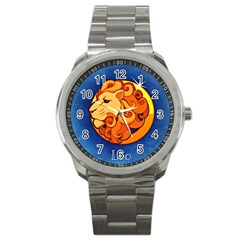 Zodiac Leo Sport Metal Watch by Mariart