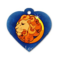 Zodiac Leo Dog Tag Heart (one Side) by Mariart