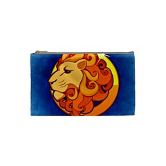 Zodiac Leo Cosmetic Bag (small)  by Mariart