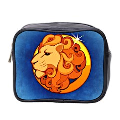 Zodiac Leo Mini Toiletries Bag 2 Side by Mariart