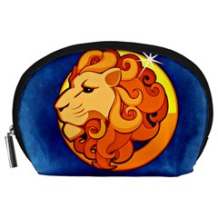 Zodiac Leo Accessory Pouches (large)  by Mariart