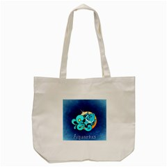 Zodiac Aquarius Tote Bag (cream) by Mariart