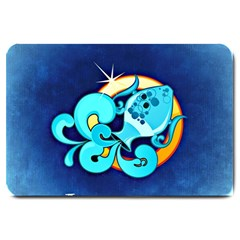 Zodiac Aquarius Large Doormat  by Mariart