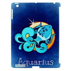 Zodiac Aquarius Apple Ipad 3/4 Hardshell Case (compatible With Smart Cover) by Mariart