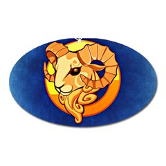 Zodiac Aries Oval Magnet by Mariart