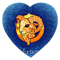 Zodiac Aries Jigsaw Puzzle (heart) by Mariart