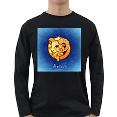 Zodiac Aries Long Sleeve Dark T Shirts