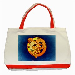Zodiac Aries Classic Tote Bag (red) by Mariart