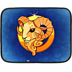 Zodiac Aries Double Sided Fleece Blanket (mini)  by Mariart