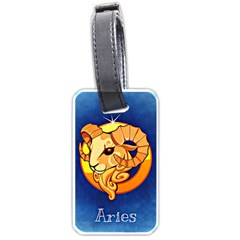 Zodiac Aries Luggage Tags (two Sides) by Mariart