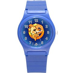Zodiac Aries Round Plastic Sport Watch (s) by Mariart