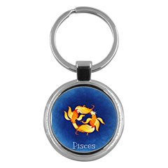 Zodiac Pisces Key Chains (round)  by Mariart