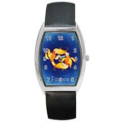 Zodiac Pisces Barrel Style Metal Watch by Mariart