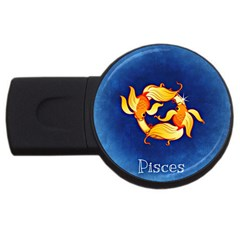Zodiac Pisces Usb Flash Drive Round (4 Gb) by Mariart