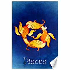 Zodiac Pisces Canvas 12  X 18   by Mariart