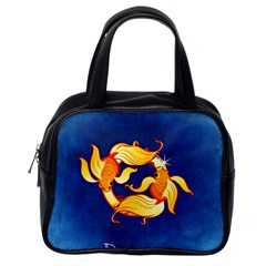 Zodiac Pisces Classic Handbags (one Side) by Mariart