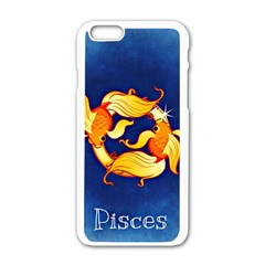 Zodiac Pisces Apple Iphone 6/6s White Enamel Case by Mariart