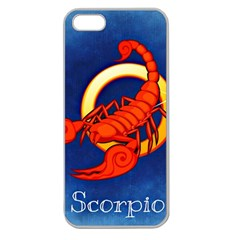 Zodiac Scorpio Apple Seamless Iphone 5 Case (clear) by Mariart
