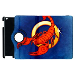 Zodiac Scorpio Apple Ipad 2 Flip 360 Case by Mariart